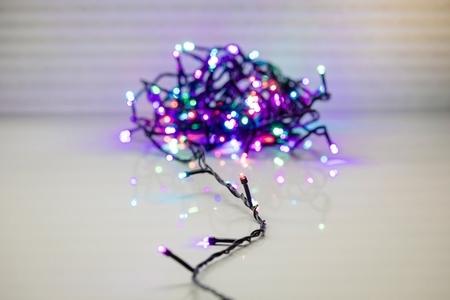 Multicolour stringl. LED 100 lamps 8 meter Koppelbaar. IP 44  per stuk/ piece