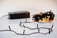 100 LED Batterijverlichting Koppelbaar - Rubber kabel per stuk