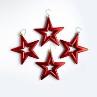 18 set a 4 st. Open Star - 14 cm Rood. Per omdoos