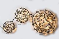 Licht Cirkel Pro.  50 LED Warm Wit rubber kabel 50 cm