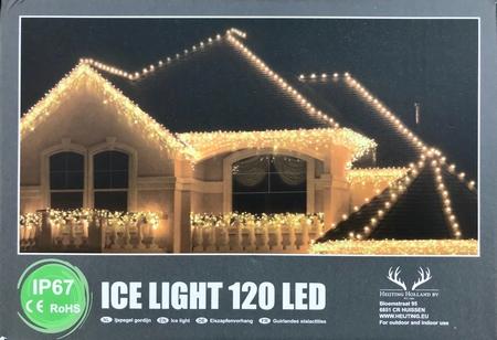 Professionele IJspegel verlichting LED warm wit.120 LED IP67  per stuk/ piece