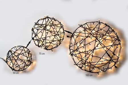 Licht Cirkel Pro. 150 LED Warm Wit rubber kabel 100 cm