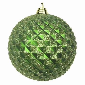 Diamant kerstballen Antiek Groen. 8 cm Doos a 160 st  Per omdoos