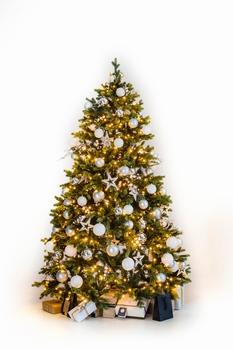 Decor kunstkerstboom  Zilver  180 cm  per stuk